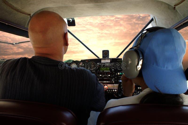 klipsk pilot arkivbild