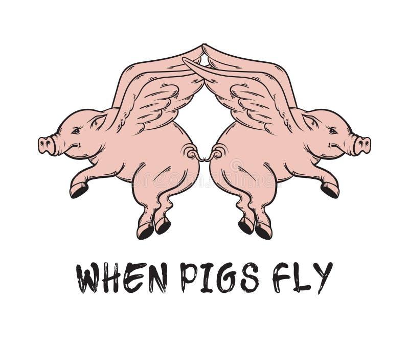 klipska pigs Typografisk bakgrund för citationstecken vektor illustrationer