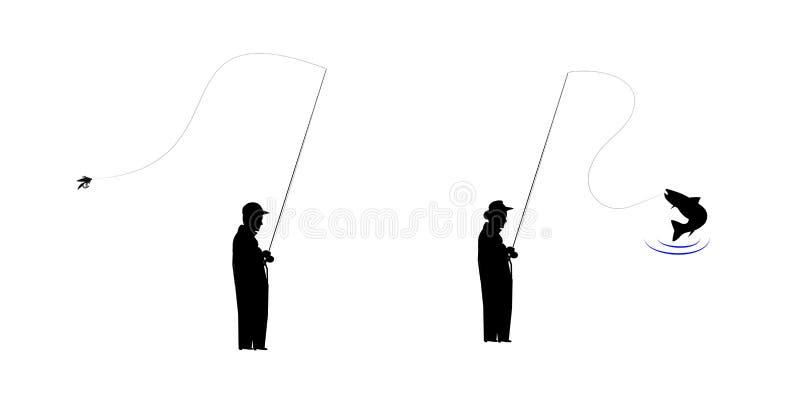 Klipskt fiske royaltyfri illustrationer