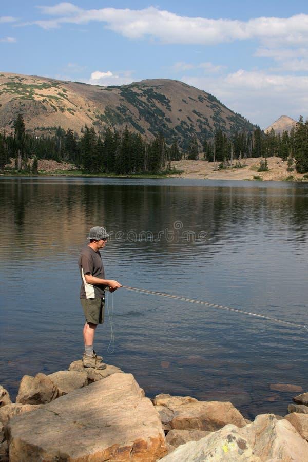 Klipskt fiske för fiskare   库存照片
