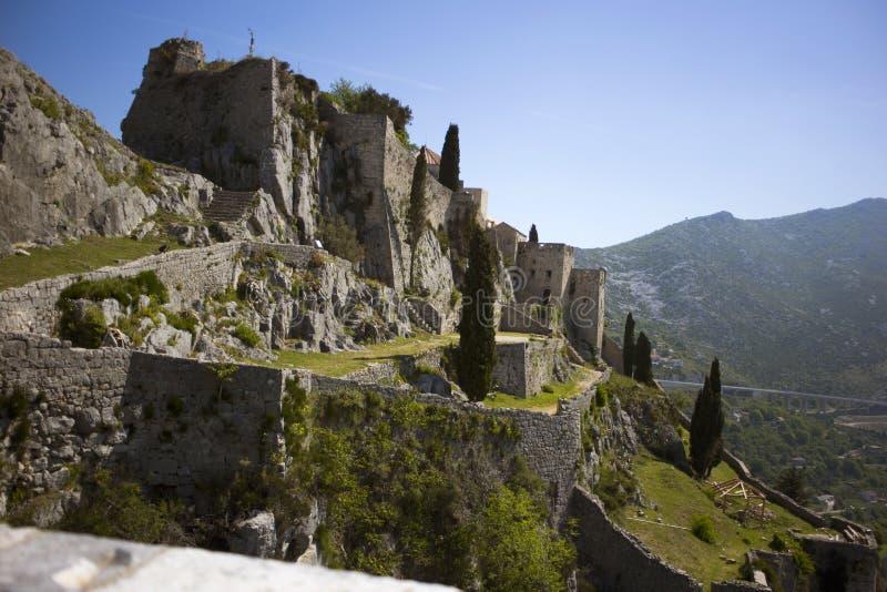 Klis-Festung stockfotografie