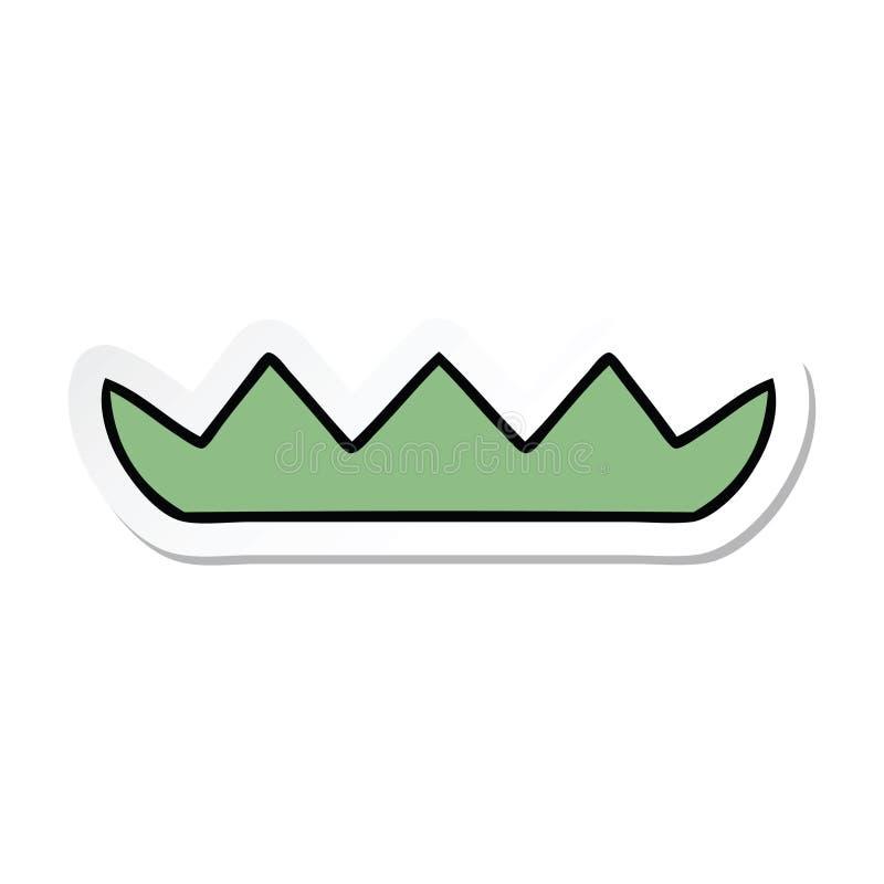 klisterm?rke av ett gulligt f?r tecknad film block lilly royaltyfri illustrationer