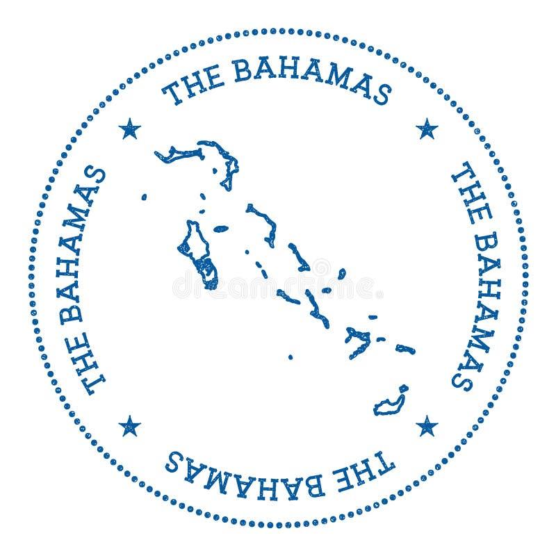 Klistermärke för Bahamas vektoröversikt vektor illustrationer