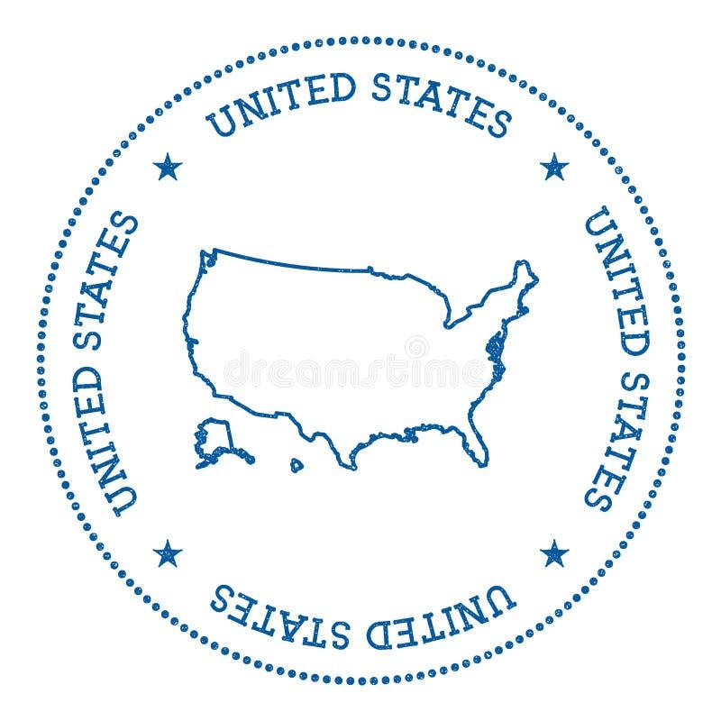 Klistermärke för Förenta staternavektoröversikt vektor illustrationer