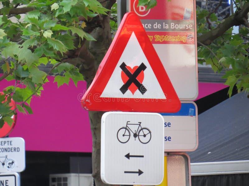 Klistermärke för gatakonsttecken fotografering för bildbyråer