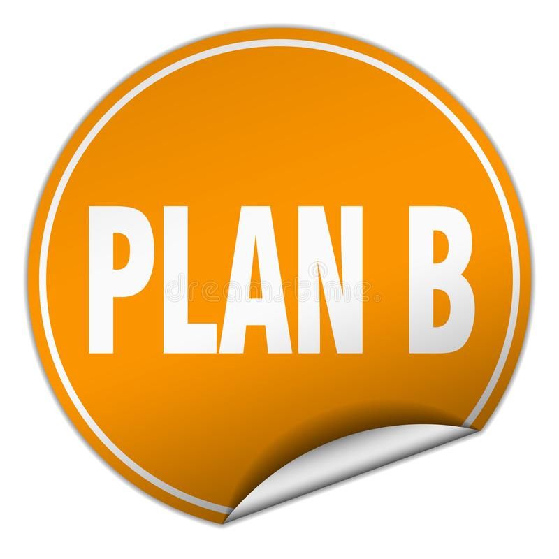 klistermärke för plan b stock illustrationer