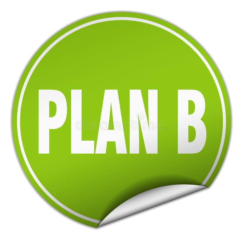 klistermärke för plan b vektor illustrationer