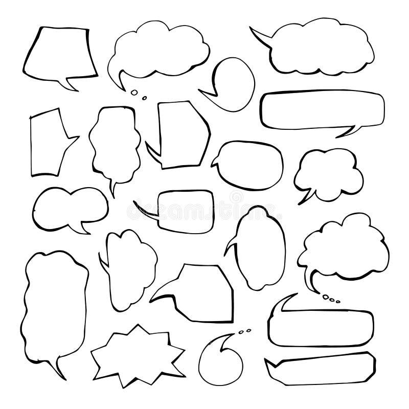 Klistermärkear av anförande bubblar vektoruppsättningen Tomt tomt anförande bubblar för infographicsvektorillustration royaltyfri illustrationer