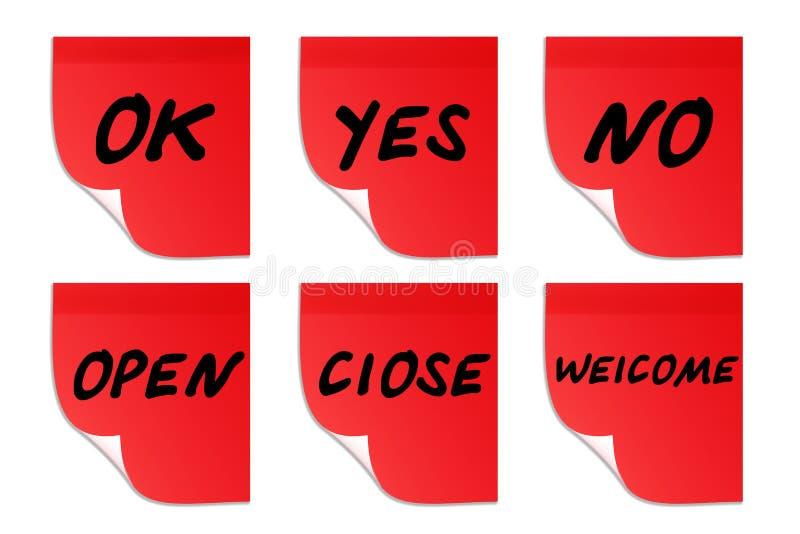 Klistermärkear med undertexter arkivfoton