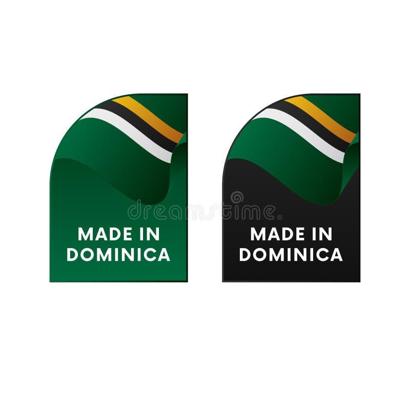 Klistermärkear som göras i Dominica också vektor för coreldrawillustration vektor illustrationer