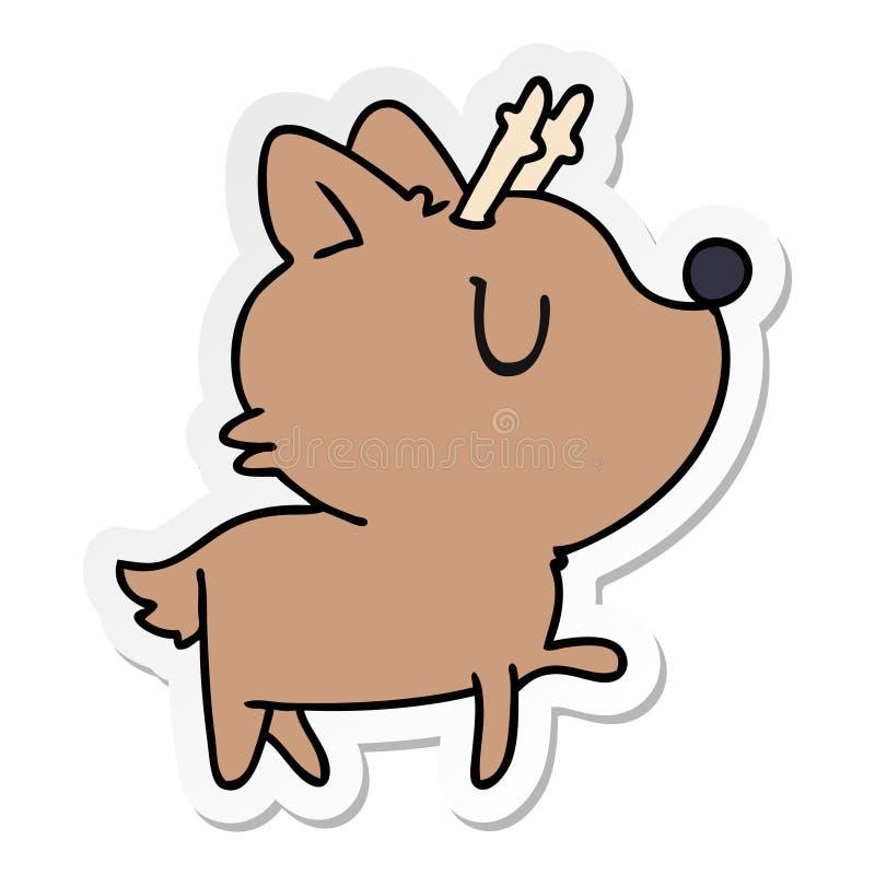 Klisterm?rketecknad film av gulliga hjortar f?r kawaii royaltyfri illustrationer