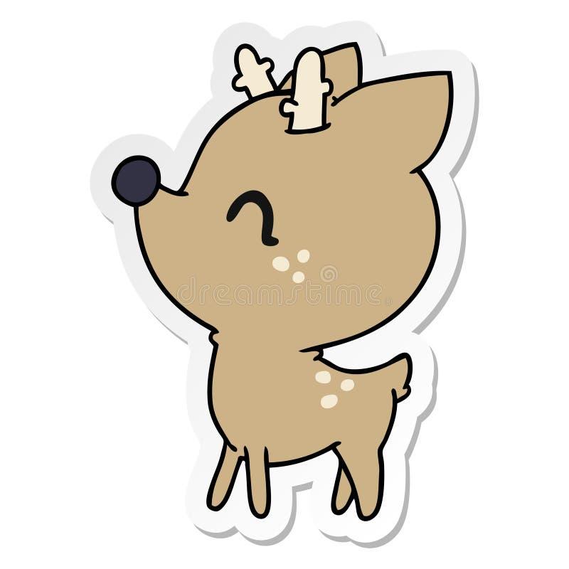 Klisterm?rketecknad film av gulliga hjortar f?r kawaii vektor illustrationer