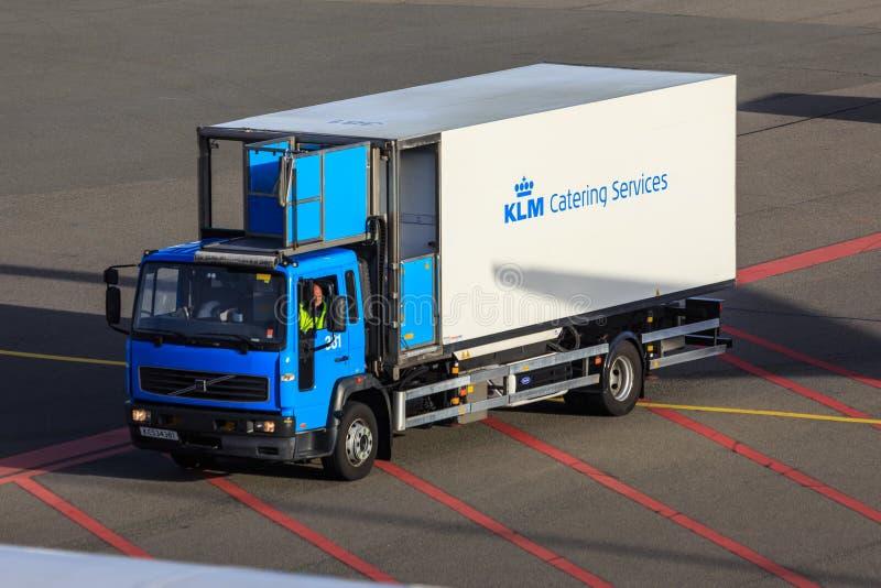 KLM承办酒席卡车 图库摄影