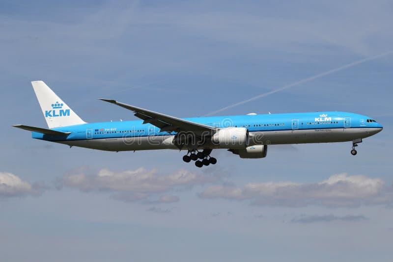 KLM波音777-300 库存照片