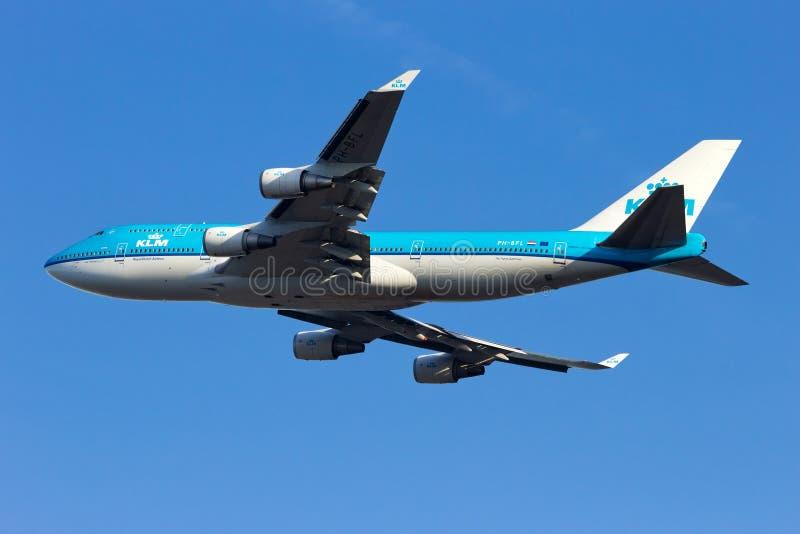 KLM波音747 库存照片