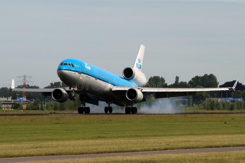 KLM -荷兰皇家航空公司麦克当诺道格拉斯公司MD-11 库存图片