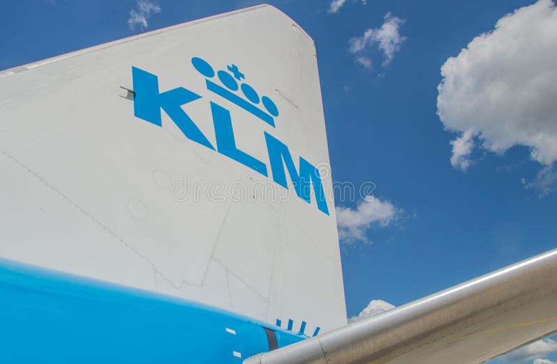 KLM royaltyfri foto