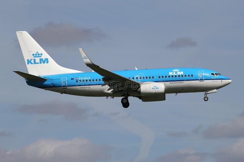 KLM Boeing 737-700 arkivfoto