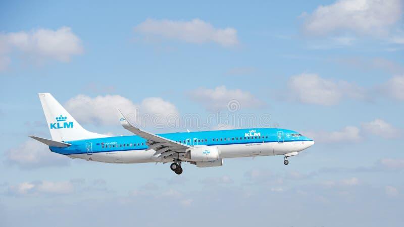 KLM Boeing 737 arkivfoton