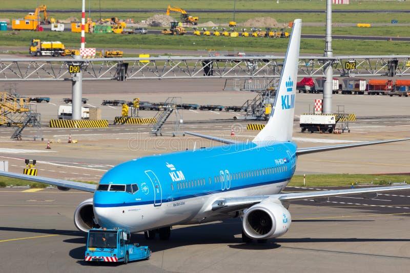 KLM Boeing 737 imagenes de archivo