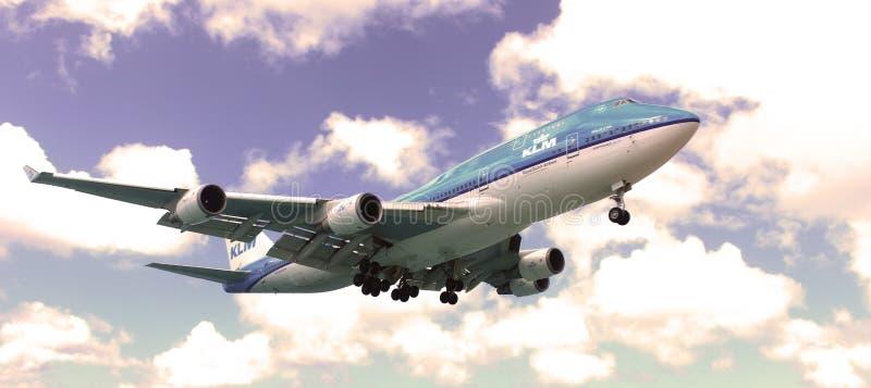 KLM Boeing 747-400 zdjęcie stock