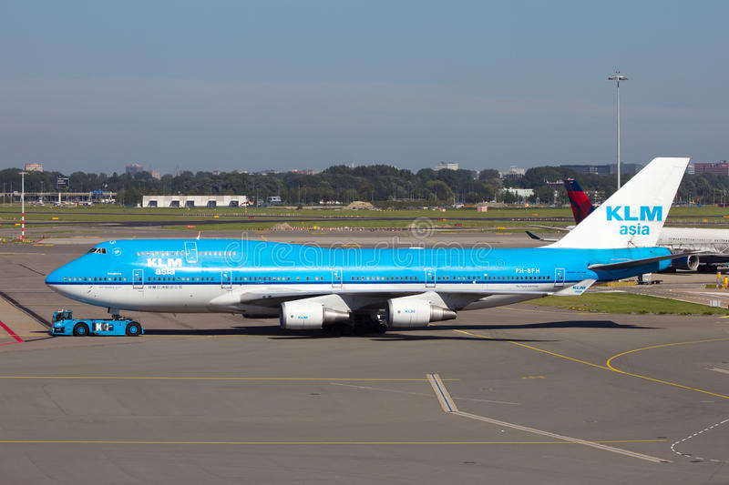 KLM Boeing 747 arkivfoton