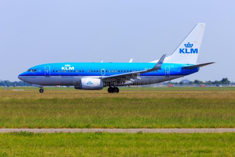 KLM Boeing 737-700 royaltyfri foto