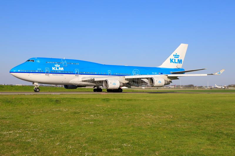 KLM Boeing 747 photo stock
