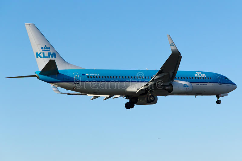 KLM Boeing 737-800. Istanbul Atatürk Airport royalty free stock photography
