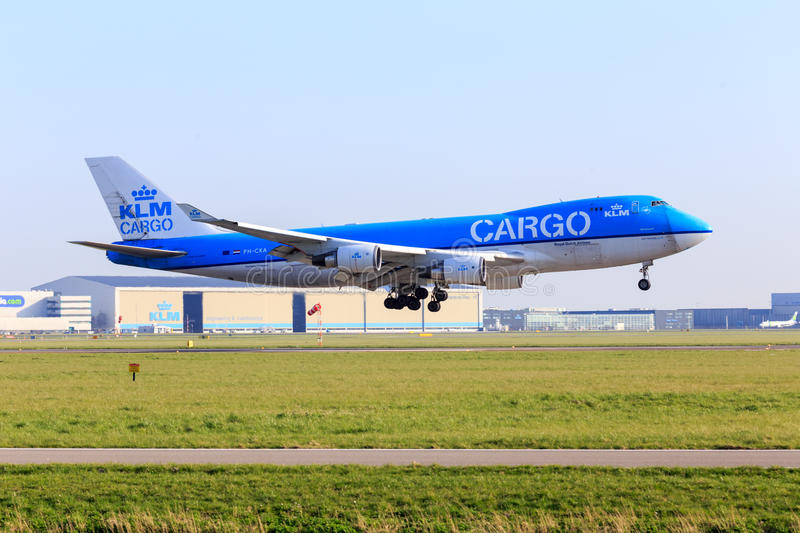 KLM Cargo Boeing 747 royalty free stock photo