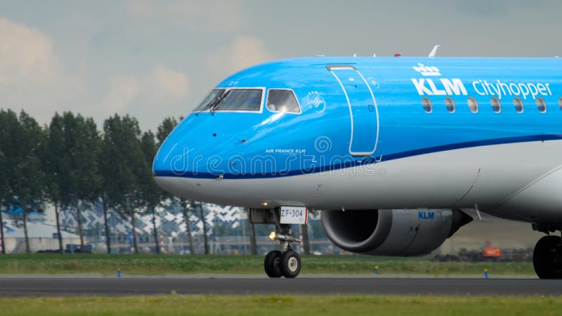 KLM Cityhopper Airport Amsterdam royalty free stock photography