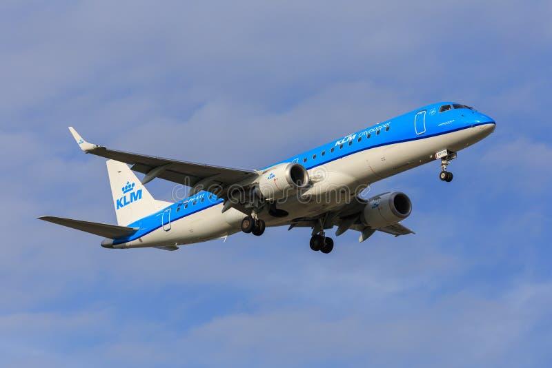 KLM Cityhopper Embraer 190 stock photos