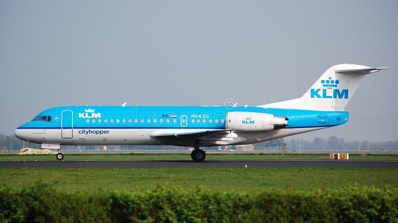 KLm Cityhopper Fokker 70 stock photos