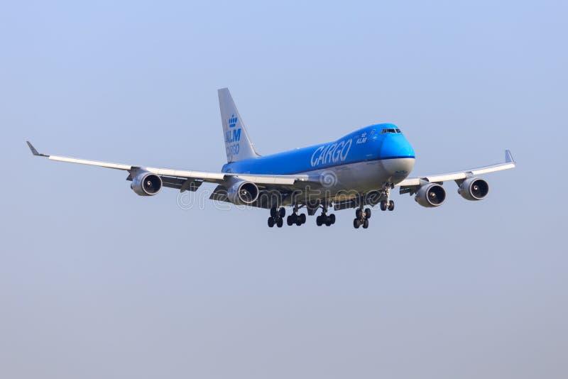 KLM last Boeing 747 royaltyfri foto