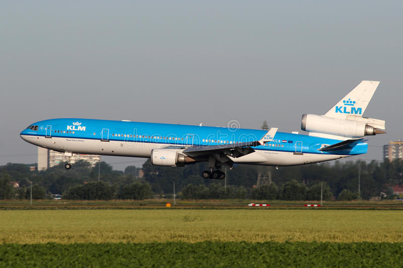 KLM - Royal Dutch-Fluglinien McDonnell Douglas MD-11 stockfotografie