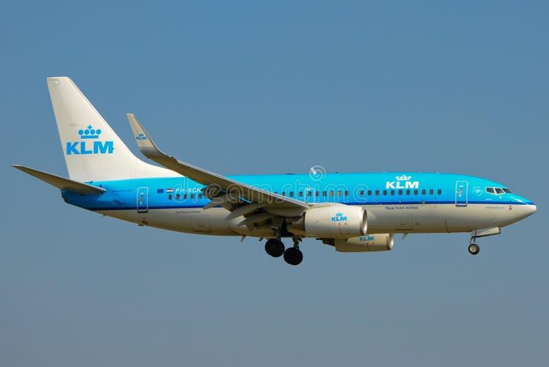 KLM samolot Boeing 737-700 fotografia stock
