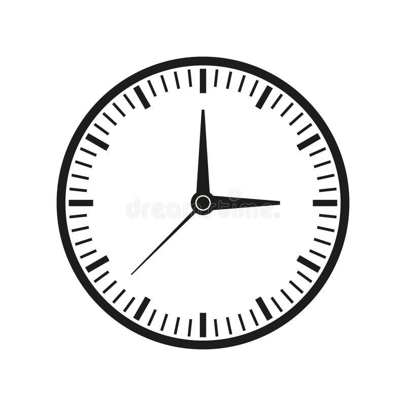 Klocka av tidsymbolen stock illustrationer
