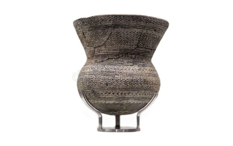Klocka dryckeskärl från La Rambla Sena kopparålderlerakrukor, Cordoba, royaltyfria foton