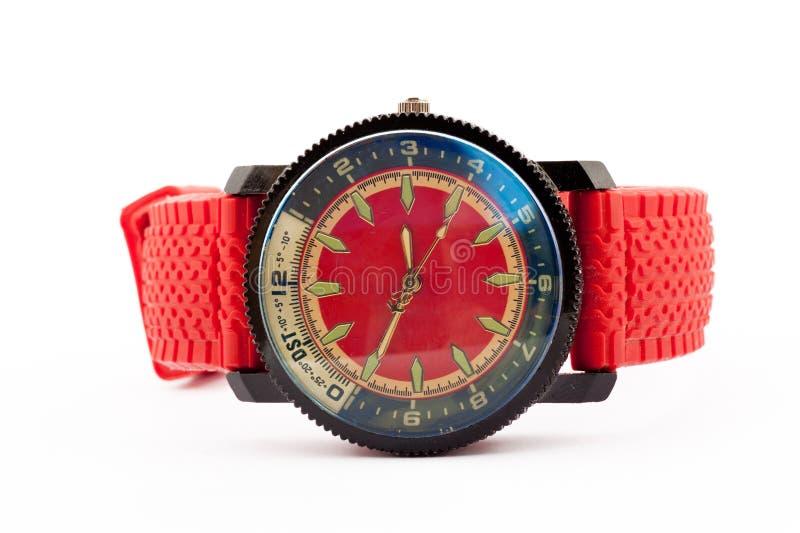 Klocka för ` s för röd man royaltyfri bild