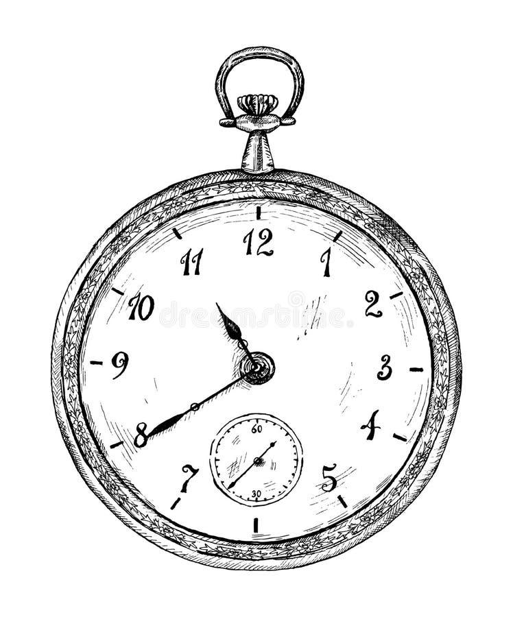 klocka vektor illustrationer