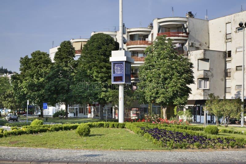 Klocka i Caplina stämma överens områdesområden som Bosnien gemet färgade greyed herzegovina inkluderar viktigt, planera ut territ royaltyfri foto