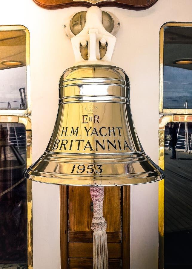 Klocka i Edinburg royaltyfri foto