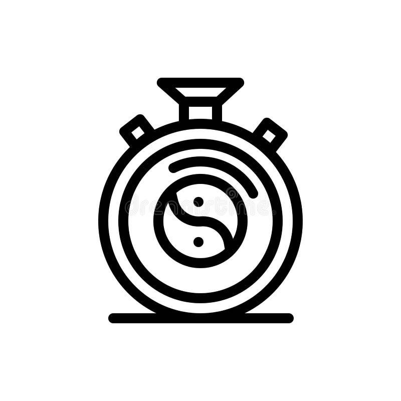 Klocka, koncentration, meditation, övningsblått och röd nedladdning och att köpa nu mallen för rengöringsdukmanickkort stock illustrationer