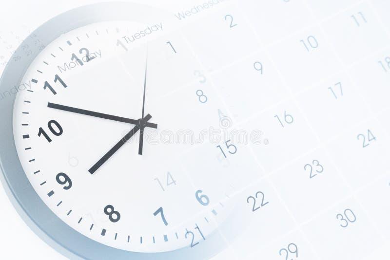 Klocka och kalender arkivbilder