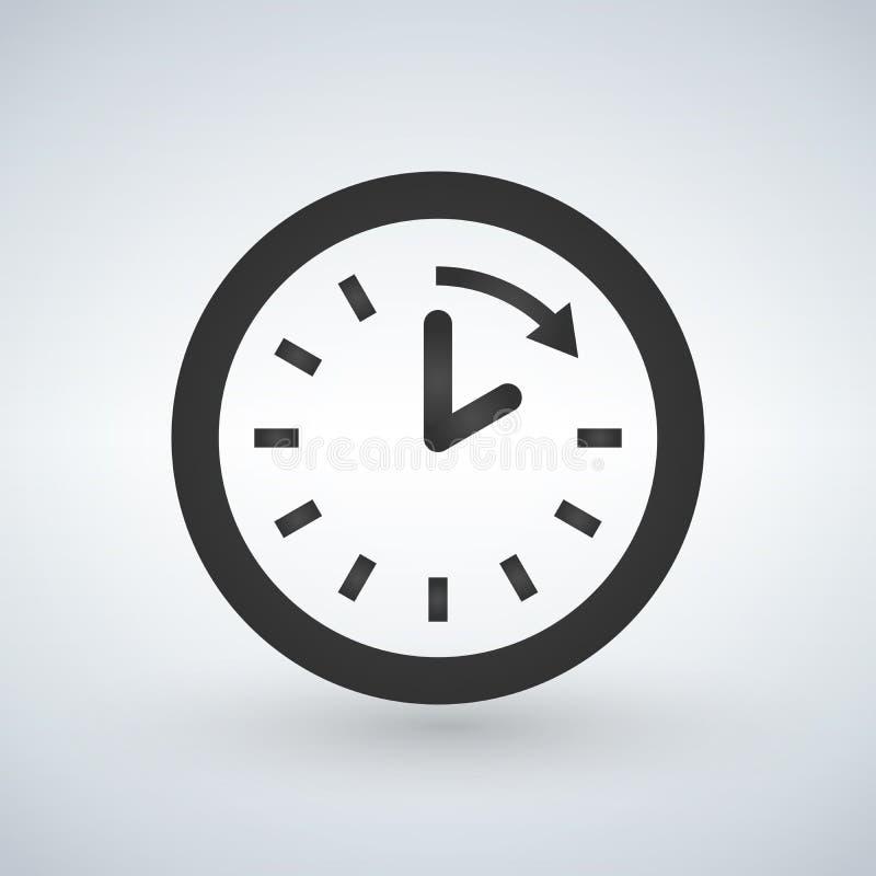 klocka- och pilsymbol Tid design diagram vektor illustrationer