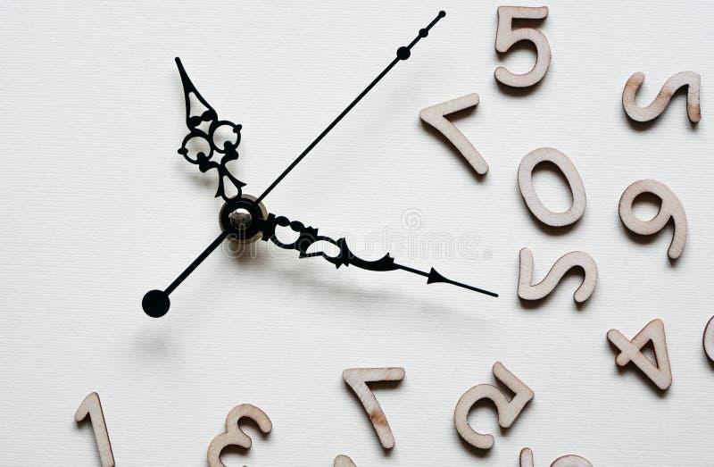 Klocka och siffror arkivbild
