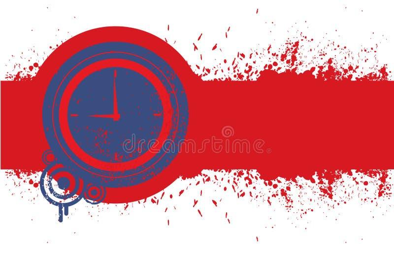 Download Klocka På Röd Grungebakgrund För Text. Vektor Illustrationer - Illustration av grunge, vitt: 27283898