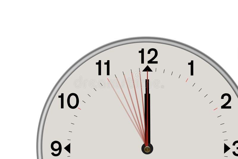 Klocka som visar en andra nedräkning 5 (vit bakgrund) royaltyfri foto