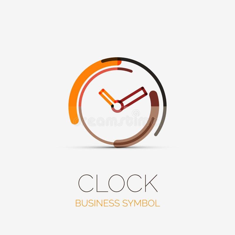 Klocka tidföretagslogo, affärsidé vektor illustrationer