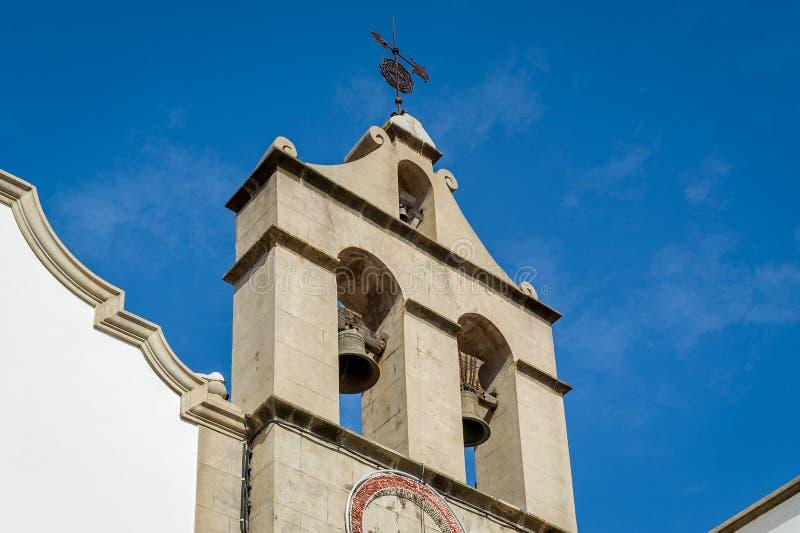 Klocka torn av Iglesia Parroquial de San Marcos i Icod royaltyfria bilder